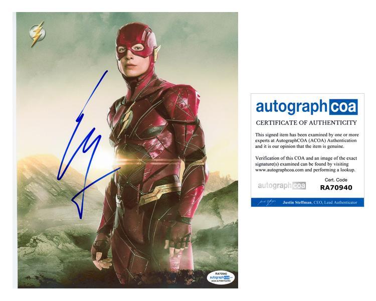 Ezra-Miller-034-The-Flash-034-AUTOGRAPH-Signed-8x10-Photo-ACOA