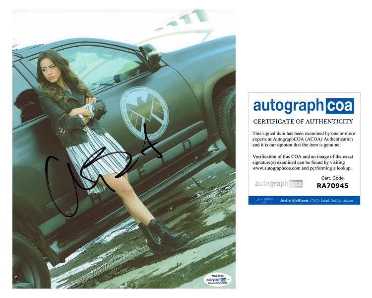 Chloe-Bennet-034-Agents-of-SHIELD-034-AUTOGRAPH-Signed-8x10-Photo-ACOA